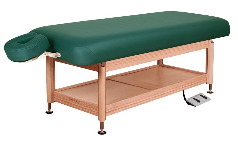 Oakworks Portable Massage Table Spa Table | Electric-Hydraulic Flat Top Spa Table | Oakworks Clinician
