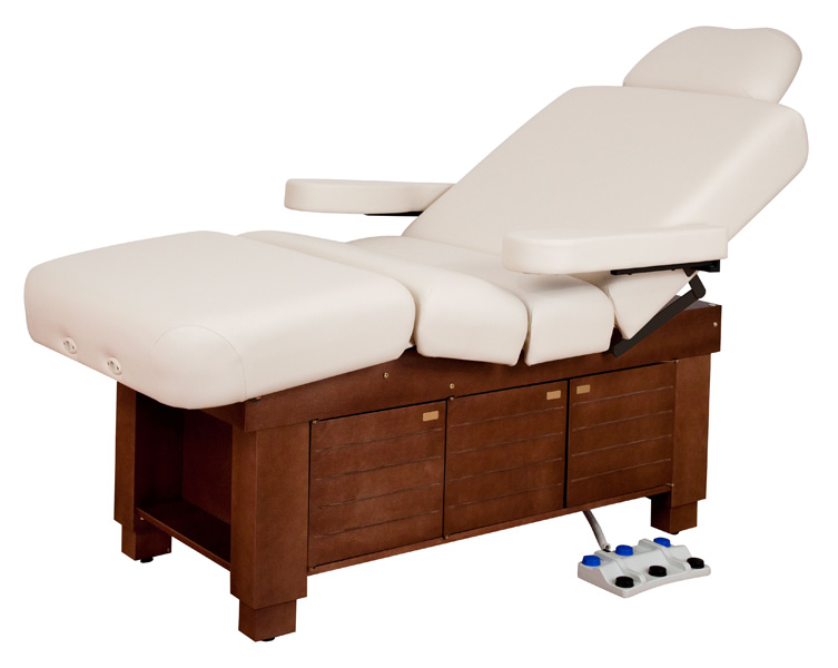 Spa table electric lift spa table clodagh gemini by oakworks