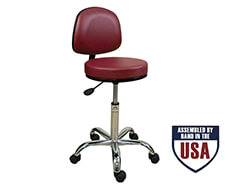 Professional Stool with Backrest-Low Height Range